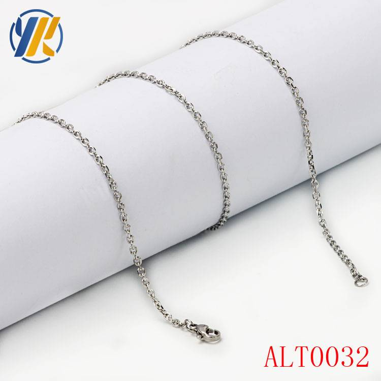 Wholesale Thin Stainless Steel Fashion Chain Necklace With Custom Logo Long Necklaces Jewelry