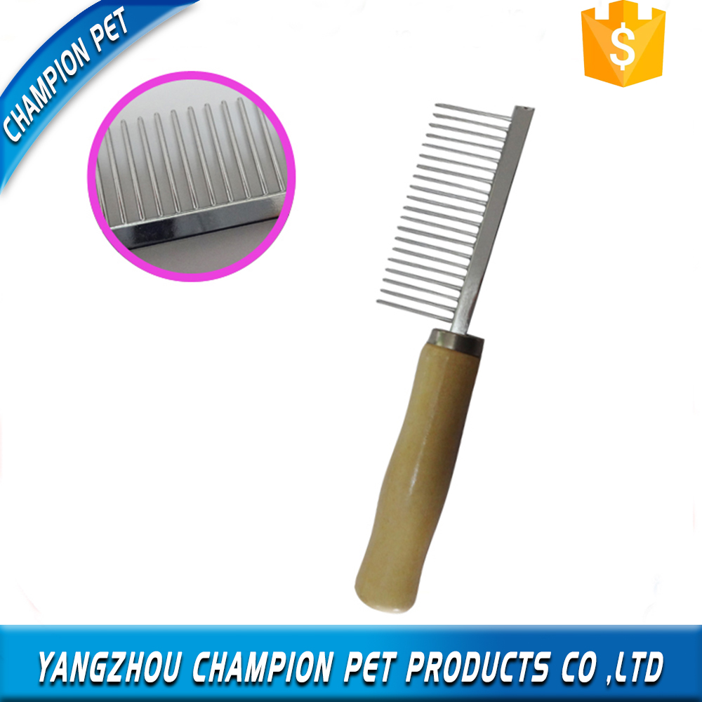 Latest Wooden Material Grooming Pet Comb