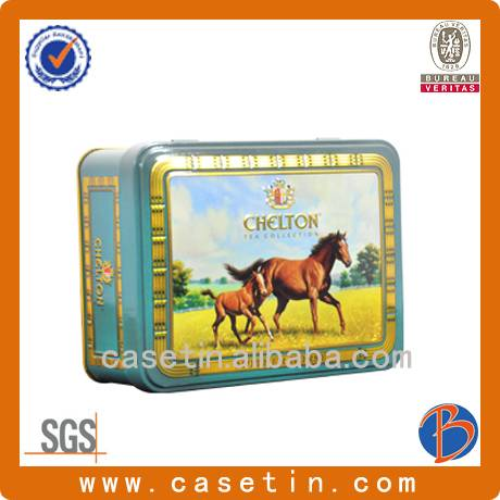 china factory manufacturing customized rectangular metal packaging tin box with cheap price