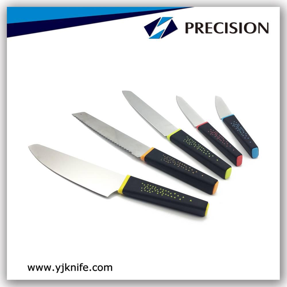 5pcs best Kitchen Knife sets with chef knife bread knife