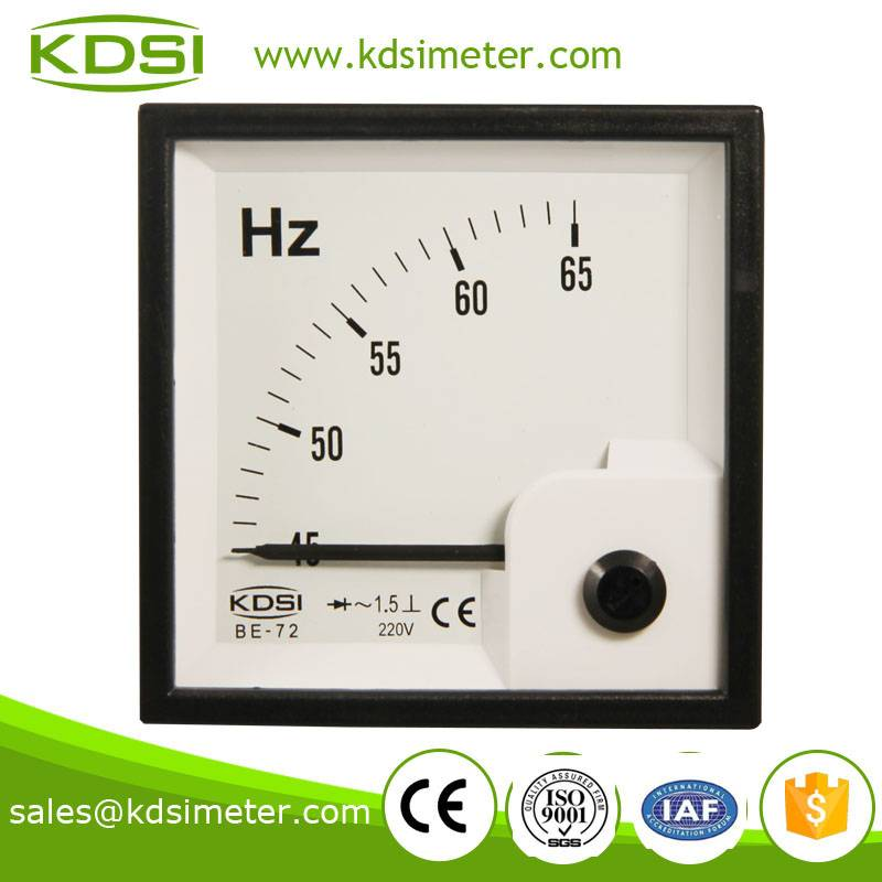 Hot Selling Good Quality  BE-72 45-65HZ 220V ac frequency meter