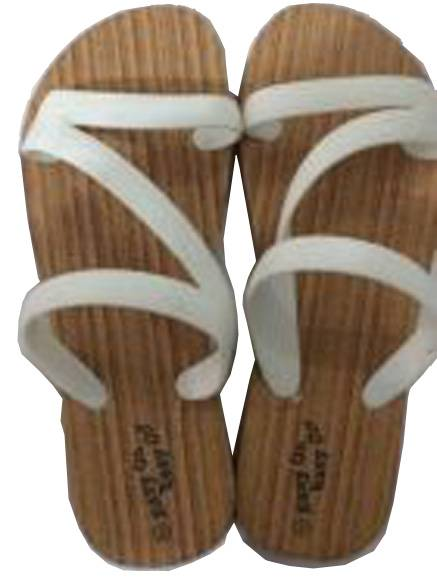 wooden pattern slipper