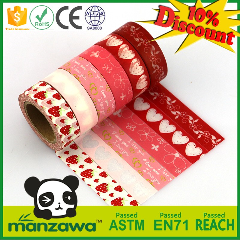 Free samples Japanese decorative wholesale washi masking tape,custom printed waterproof masking tape