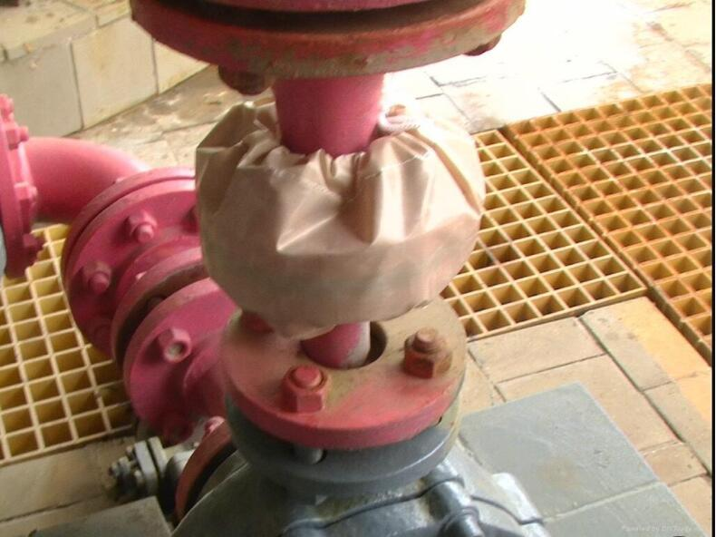 PTFE coated fabric for flange shield