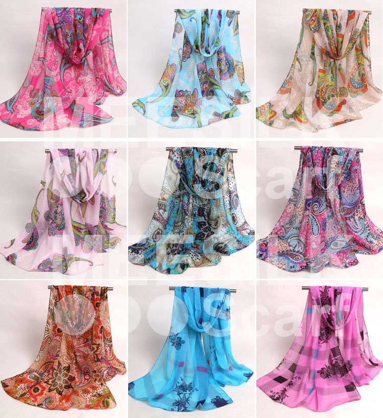 New Collection Elegance and Luxury of 100% Silk Printed Scarves
