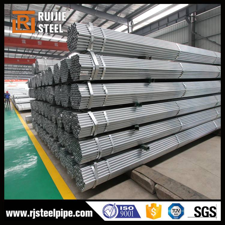 Carbon Pre galvanized ERW round steel pipe