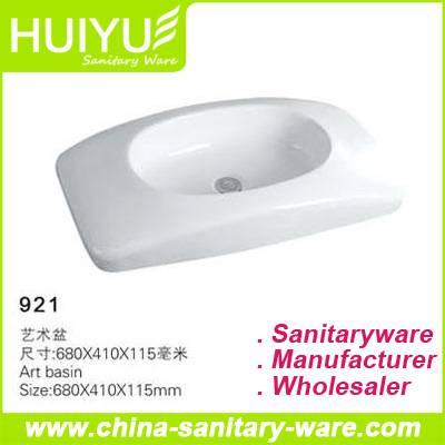 Ceramic bathroom art basin