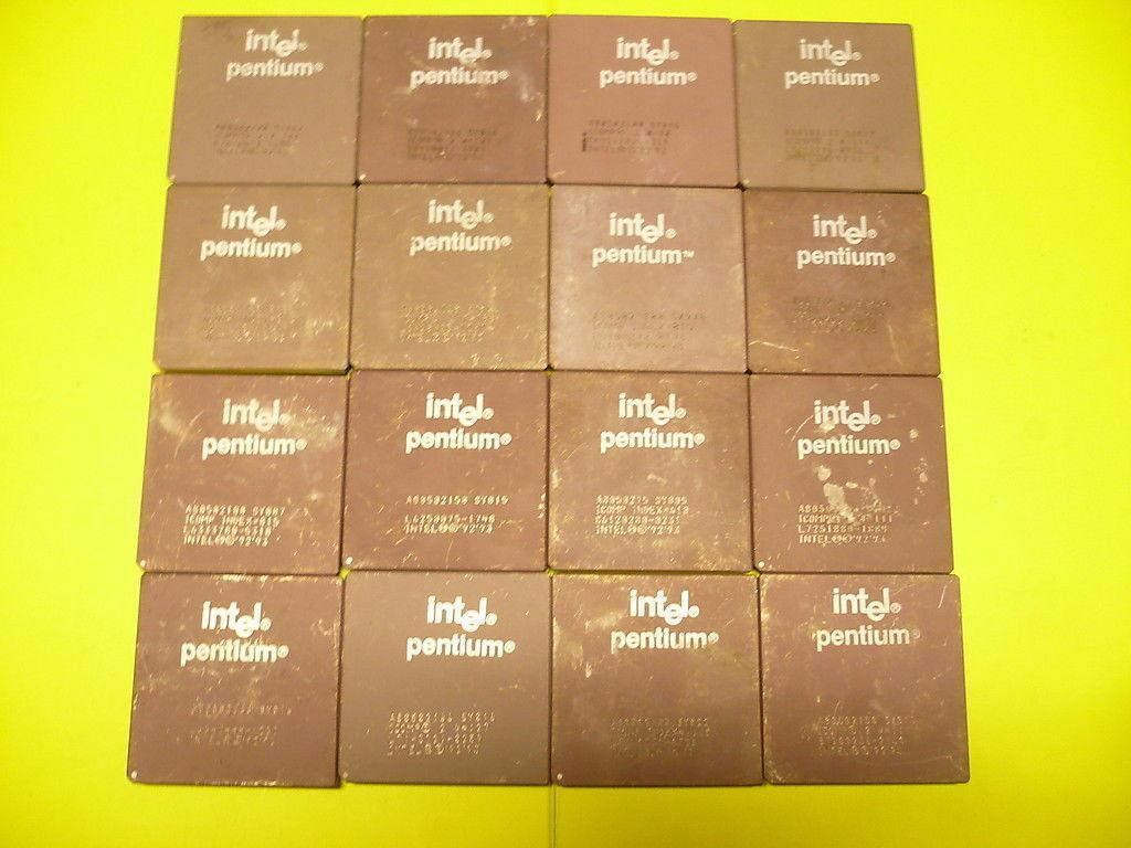 Intel Pentium Ceramic CPUs High Grade Gold for Recovery