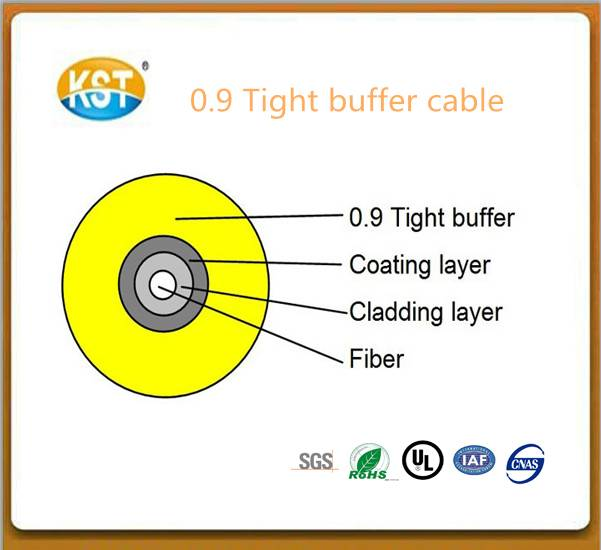Indoor optical cable/single-fiber 0.9mm Tight Buffer Cable (GJFJV)