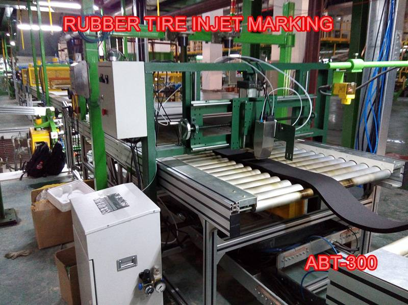 Rubber tire inkjet marking machine