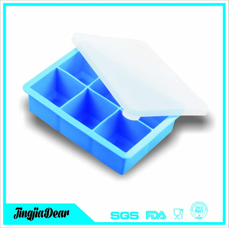 silicone Ice Cube Tray - Large Trays with Silicone Lid Covers