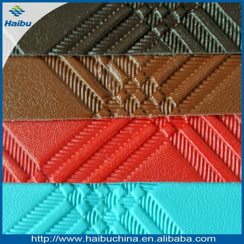 Embossed Square Pattern PVC Synthetic Leather for Bags