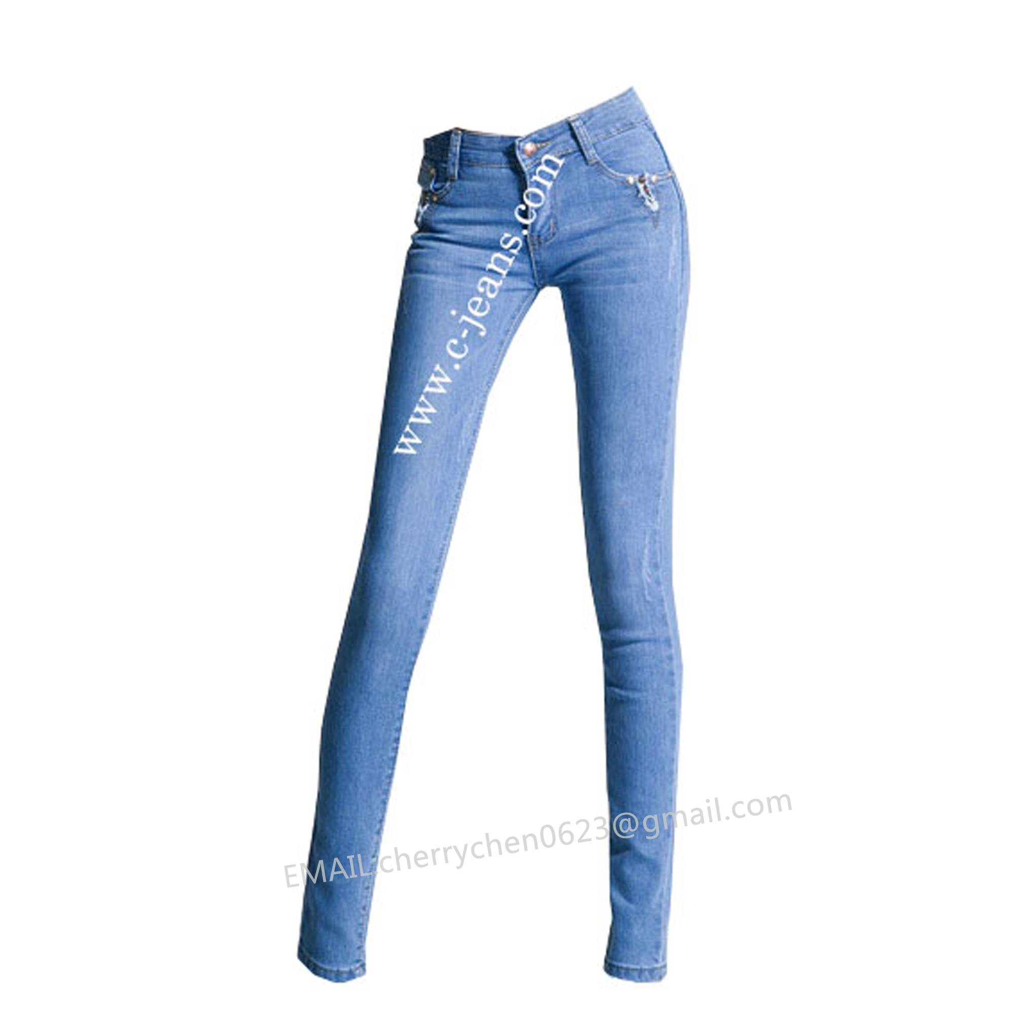 Lady's Stylish Straight Jeans. 2014 Fashion Middle Waist Sexy Woman Jean
