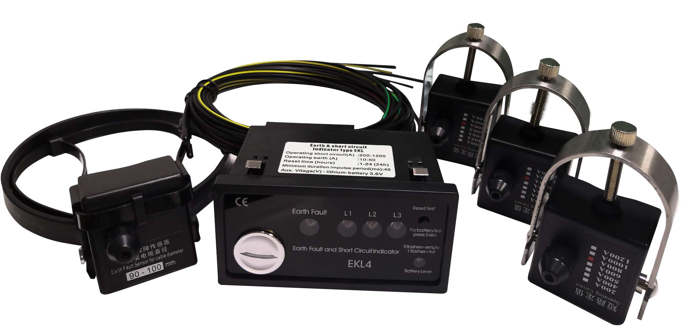 High Voltage Cable Short Circuit And Grounding Fault Indicator Item EKL4