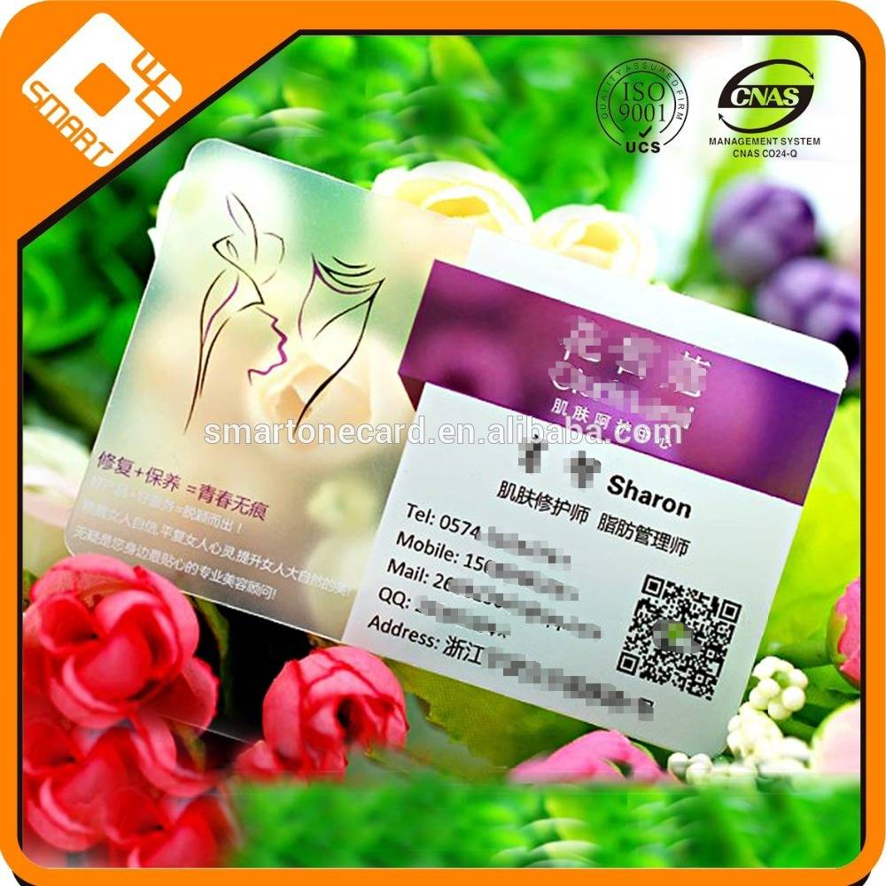 Transparent clearly Material Made transparent business card sheets , transparent inkjet pvc card