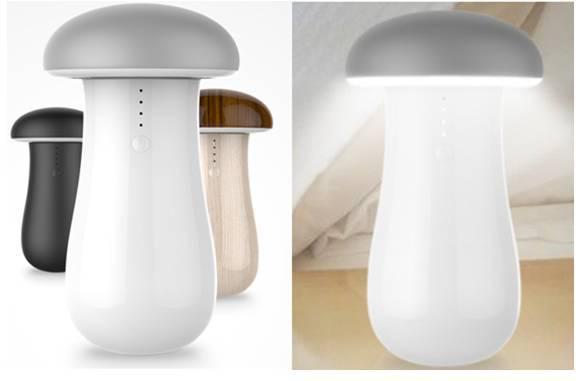 New LED USB mushroom lamp super power bank with led small lamp energy-saving led bed lamp