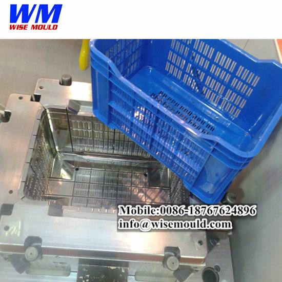 OEM vegetable and fruit crate molds/plastic injection crate moulds maker from huangyan