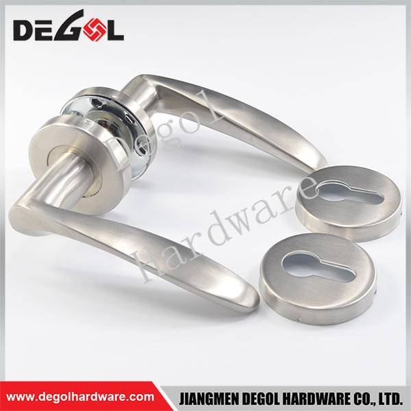 Hot Sale stainless steel solid type l shape door handles