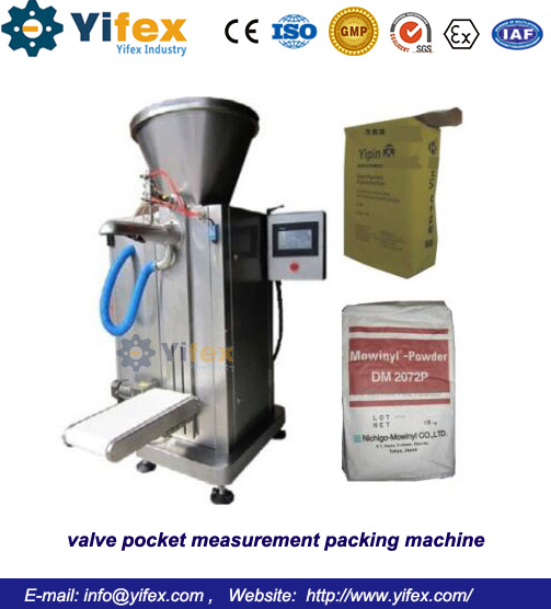 valve pocket measurement packing machine