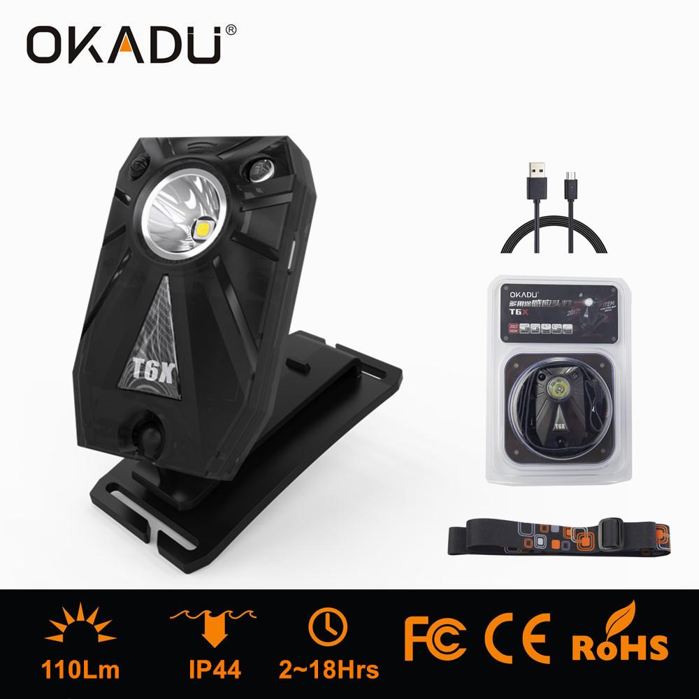 USB Charging LED Headlight Built-in Batery Sensor LED Headlamp Wrist Light