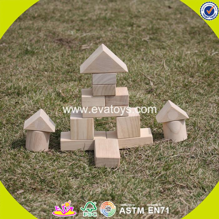 2017 wholesale wooden building block box kid wooden building block box educational wooden building