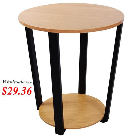 Lifewit Round Side Table Deluxe Nightstand Timber