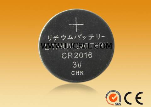 CR2016 button cell battery, lithium battery coin cell