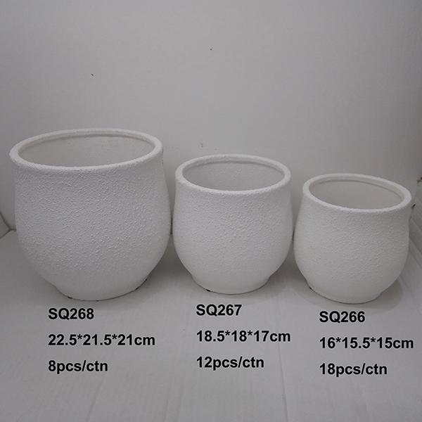 rough ceramic pot flower pot