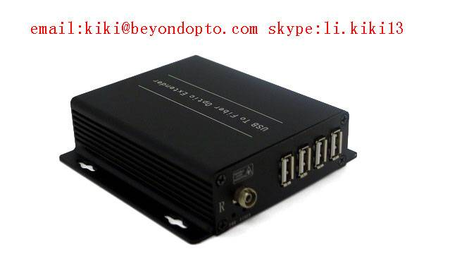 4 port USB2.0 extender to fiber optic ,up to 250m(SM or MM)