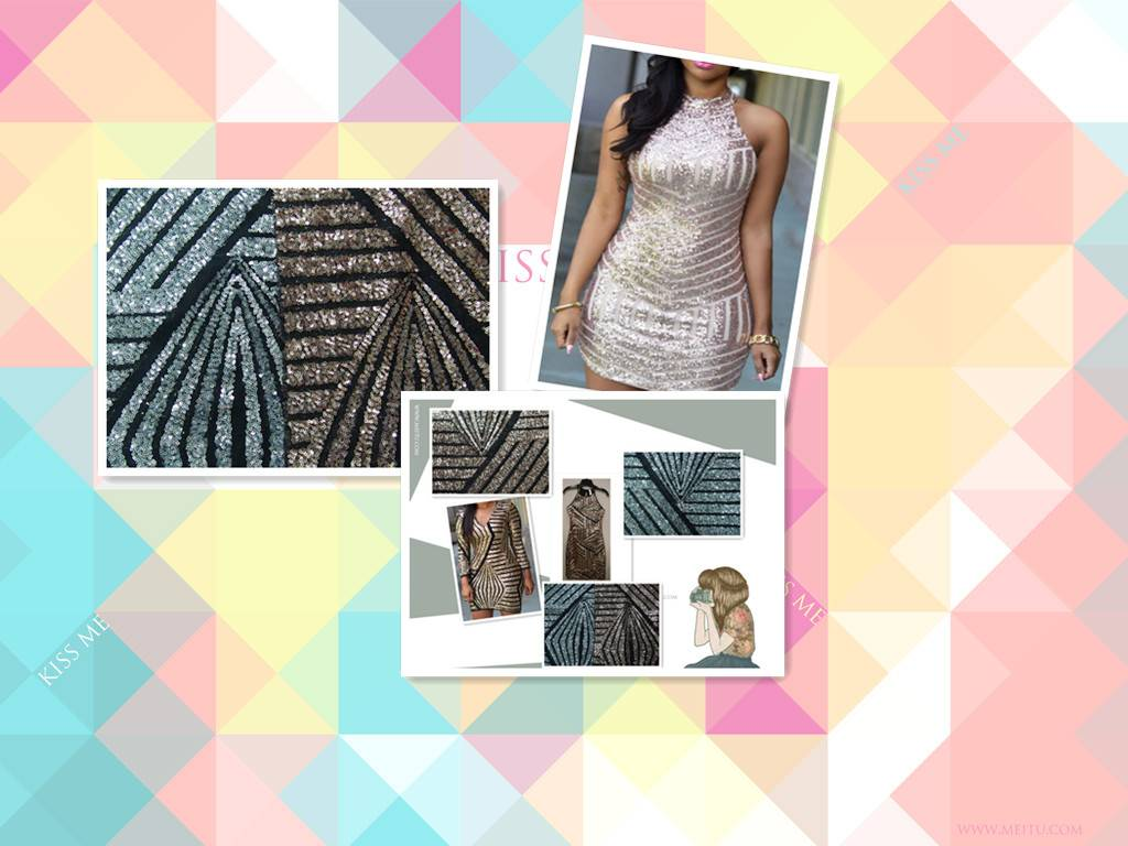 wholesales sexy  sequin bodycon dress fabric