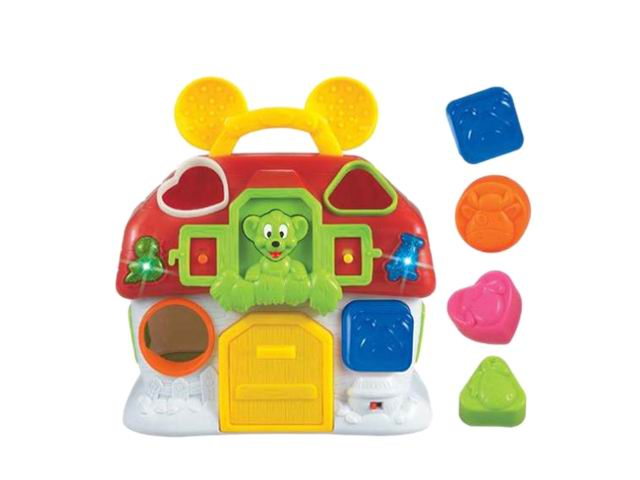 Educational blocks toys monkey house with music