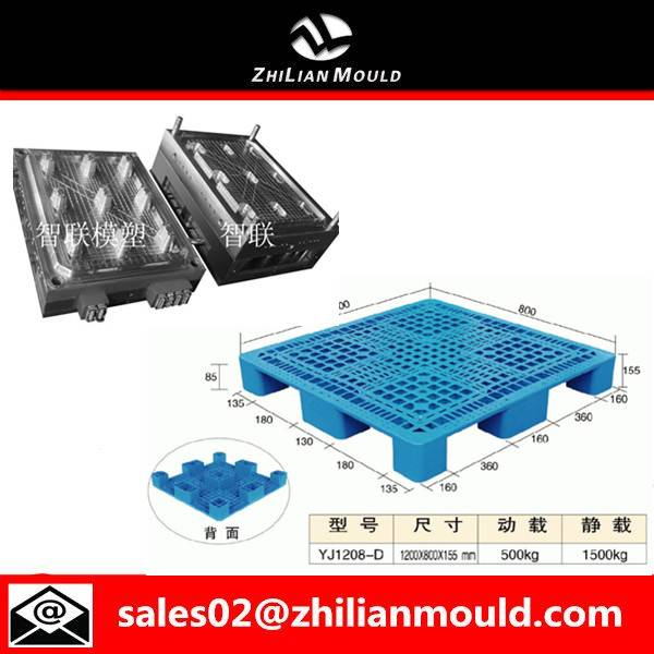 Taizhou single faced plastic pallet injection mould mold