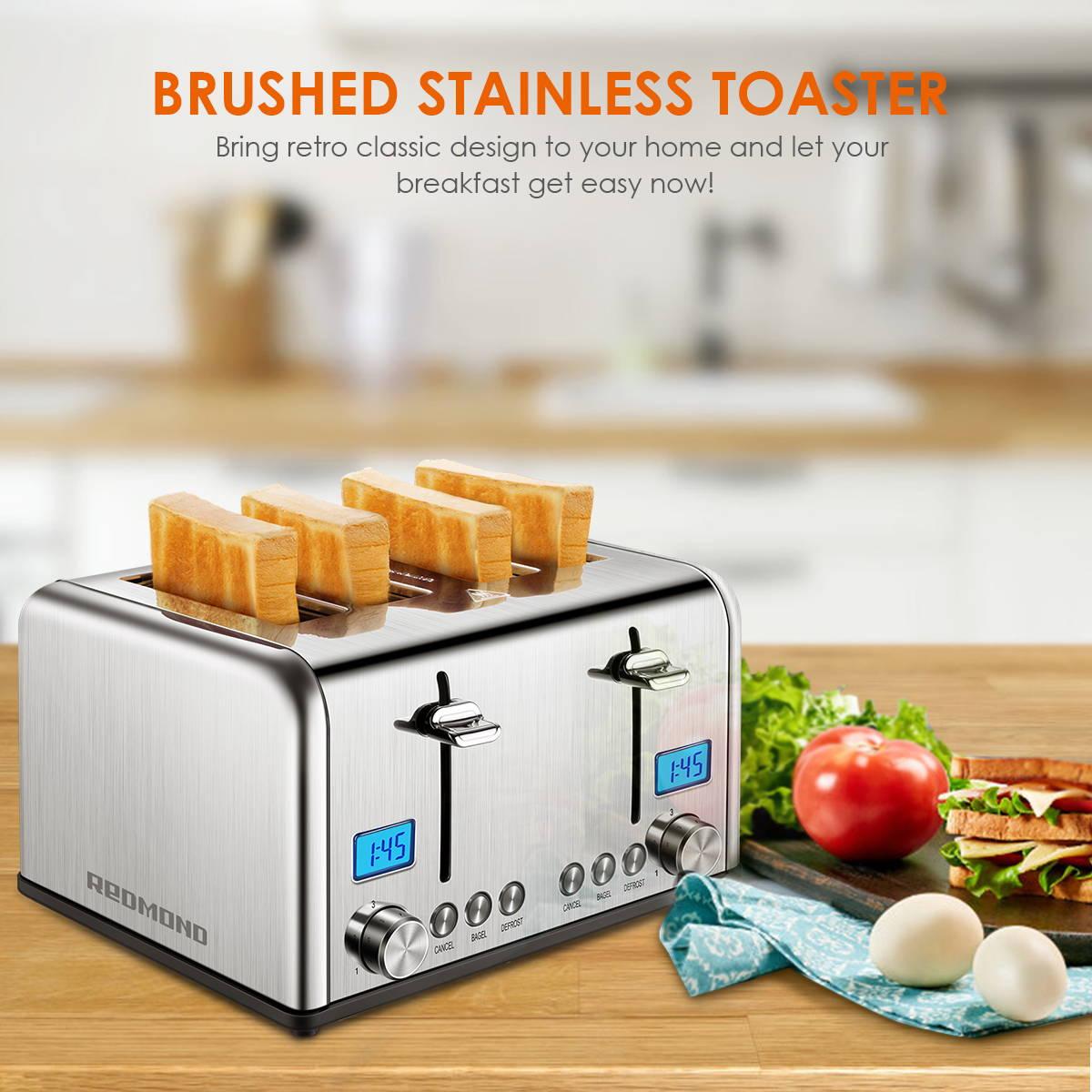 Stainless Steel 4 Slice Toaster ST030