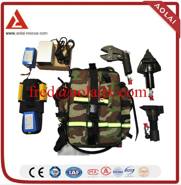 Backpack Hydraulic Forcible Entry Tools Operated by Battery