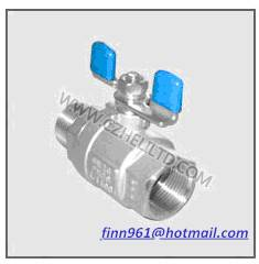 2PC BALL VALVE WITH BUTTERFLY HANDLE(HV-21BHMF)