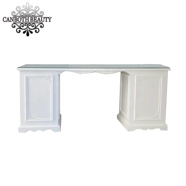 Modern Cheap Nail Shop Manicure Tables Nail Table With Glass Top ...