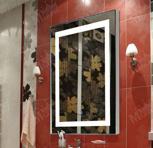 Bath LED Mirror bathroom accesories square Wall mirror
