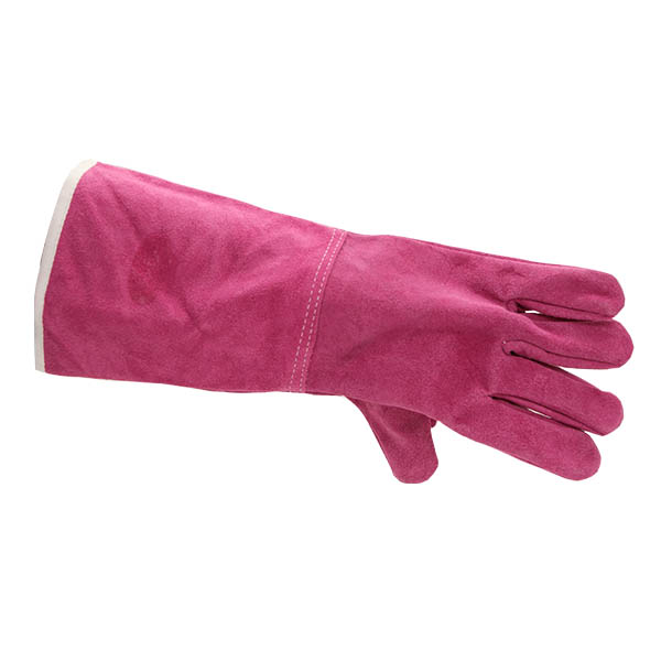 Cheap price best quality pink welding gloves
