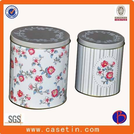 custom made metal small round gift packaging tin box