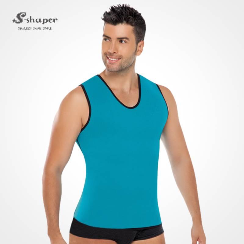 S-Shaper Men Ultra Sweat Gym Athletic Shirt Sports Running Fajas Neoprene Vest Corsets