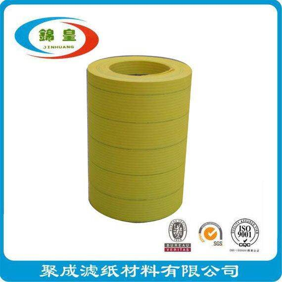 Corrugated yellow filter paper for car filter