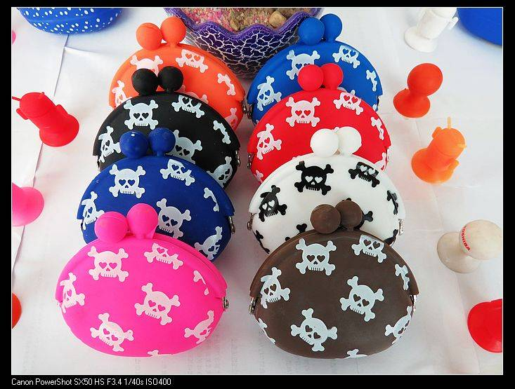 newest design animal shaped silicone coin bag