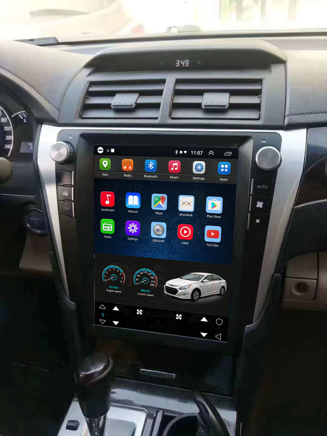 Vertical Screen 12.1 Inch Android Car Multimedia Navigation For Toyota Camry 2012-2015