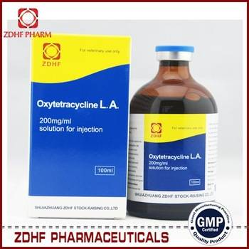 Veterinary antibiotic drugs Oxytetracycline injection 10% 20% for cattles sheep