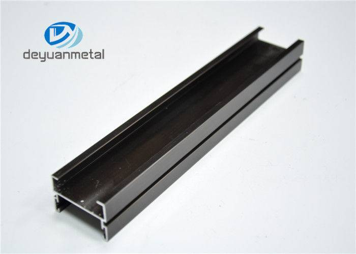 Champagne Anodizied Aluminium Extrusions For Windows / Doors , Anodized Extruded Aluminum