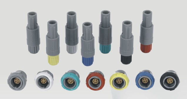 lemo connector circular push pull redel 9pin Plastic medical connector male plug with medical cable