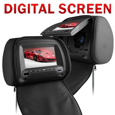7 Inch Headrest DVD Player With Digital Screen VH73