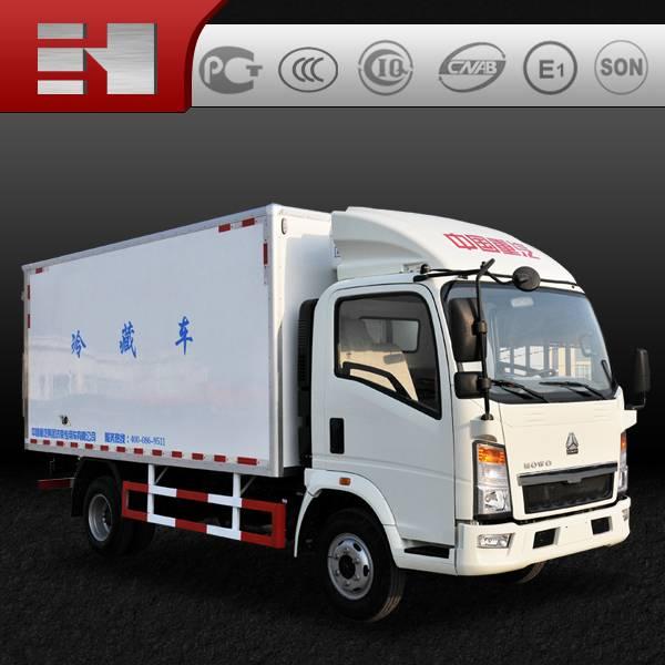 Chinese sinotruk howo refrigerator truck low price sale