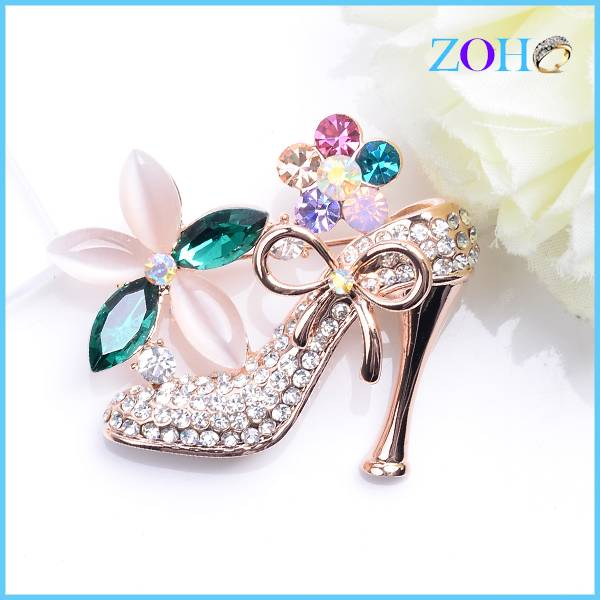 New fashion charming brooch sexy queen of high-heels jewelry