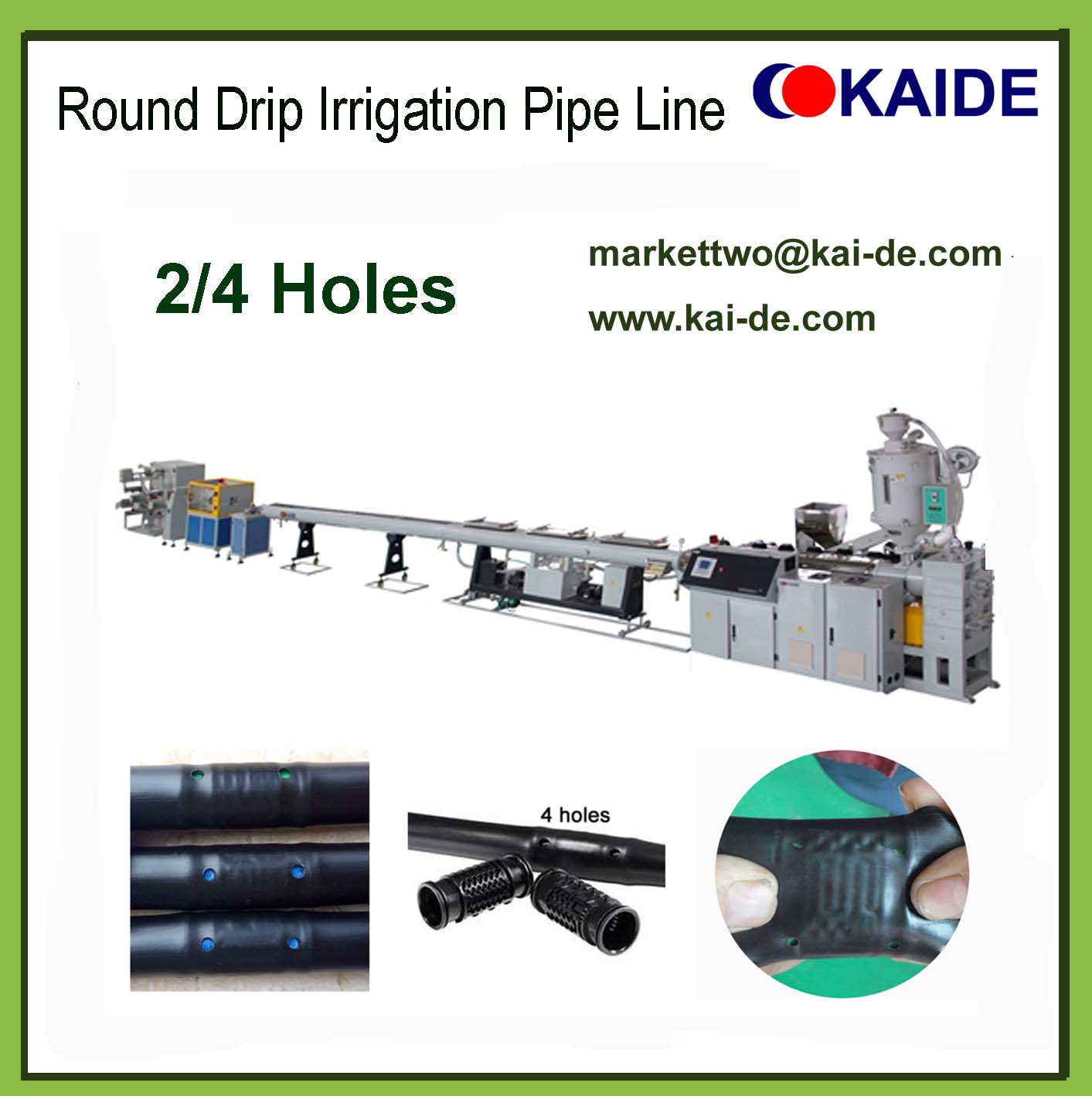 Round Dripper Irrigation Pipe Machine (Whatsapp 86-13705369780)